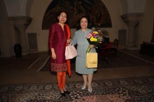 HE Mrs Narinder Chauhan, Ambassador of India and HRH Crown Princess Katherine