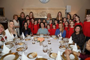 "HRH Crown Princess Katherine with her guest and ""Carolija"" choir"