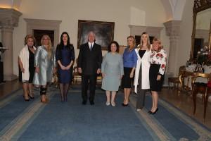 Mrs. Betty Roumeliotis, Alison, Mrs. Tamara Vucic, TRH Crown Prince Alexander and Crown Princess Katherine, Mrs. Sanja Dacic, Mrs. Ana Stefanovic and Mrs. Beatris Grozdanic