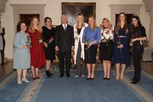 HRH Crown Princess Katherine, HRH Princess Danica, Mrs. Beba Marinkovic, HRH Crown Prince Alexander, Mrs. Ana Stefanovic, Mrs. Sanja Dacic, Mrs. Beatris Grozdanic, HRH Princess Ljubica, Mrs. Anita Kovacevic