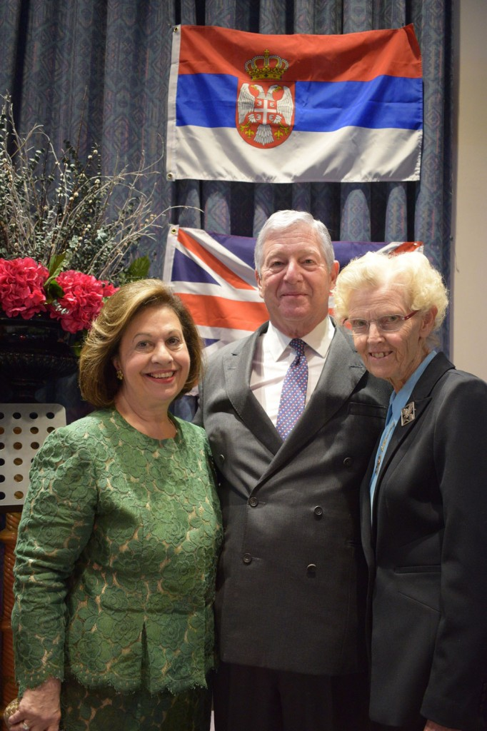 Their Royal Highnesses Crown Princess Katherine and Crown Prince Alexander with Dr. Elaine Laycock
