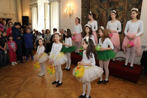 Ballerinas' performance at the Easter reception at the White Palace