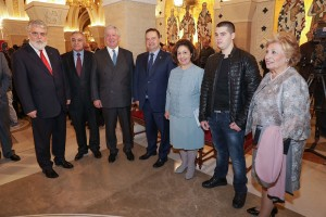 Their Royal Highnesses Crown Prince Alexander and Crown Princess Katherine with HE Mr. Ivica Dacic and his son Luka, Mrs. Betty Roumeliotis and Dr. Mileta Radojevic, Serbian Government Acting Director for Cooperation with Churches and Religious Communities