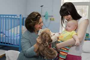 HRH Crown Princess Katherine in Easter hospitals visit