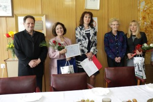 Nj.K.V. Princeza Katarina na uručenju zahvalnice bolnice Ozren
