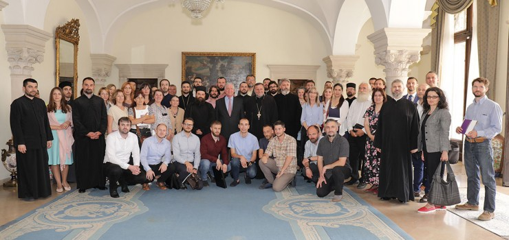 Religion teachers with HRH Crown Prince Alexander at the Royal Palace