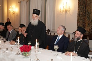 Dinner at the White Palace in honor of the regular session of the Assembly of Bishops of the Serbian Orthodox Church