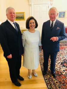 Their Royal Highness Crown Prince Alexander and Crown Princess Katherine with His Royal Highness The Prince of Wales.