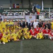 TRH Prince Radu of Romania and Crown Prince Alexander of Serbia with both teams