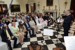 Nj.K.V. Prestolonaslednik Aleksandar se obraća pred koncert Kraljevskih gudača Svetog Đorđa