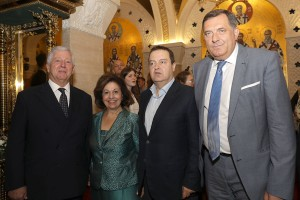 TRH Crown Prince Alexander and Crown Princess Katherine with HE Mr. Ivica Dacic and HE Mr. Milorad Dodik