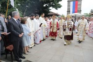 Liturgy in Lazarica church in Krusevac