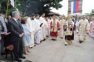 Liturgija u crkvi Lazarica u Kruševcu