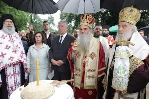 Литургија у цркви Лазарица у Крушевцу
