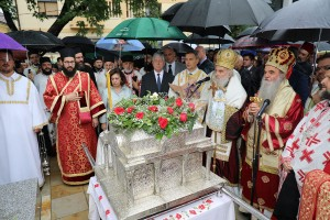 Otkrivanje spomenika Kneginji Milici u Kruševcu