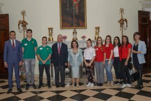 Njihova Kraljevska Visočanstva Prestolonaslednik Aleksandar i Princeza Katarina sa predstavnicima kompanije Link Group