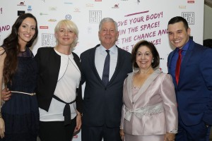 Mrs. Sladjana Ivanisevic, Mrs. Marija Lazarevic, the president of the Dance Sport Federation of Serbia, TRH Crown Prince Alexander and Crown Princess Katherine and Mr. Ivan Mileusnic