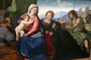 Тhe Holy Family with St. John, Saint Catherine and donor