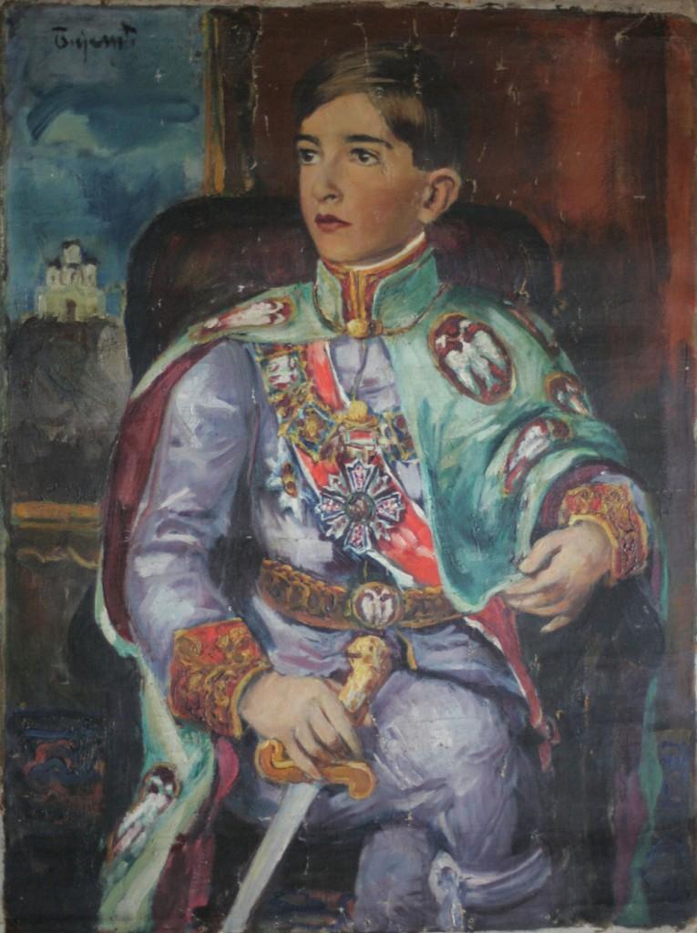 Portrait of King Peter II Karadjordjevic by Jovan Bijelic