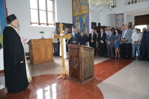 Memorial service for the Halyard Mission participants at the church in Pranjani
