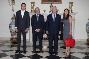 Mr. Nikola Subotic, Mr. Valentin Kuleto, HRH Crown Prince Alexander and Mrs. Biljana Tadić-Kuleto