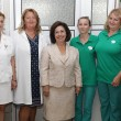 "HRH Crown Princess Katherine, Mr. Milovan Ristic and medical staff of the ""Sveti Sava"" hospital"