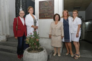 """Nj.K.V. Princeza Katarina, g-din Milovan Ristić i medicinsko osoblje bolnice """"Sveti Sava"""""""