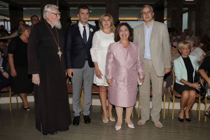 HRH Crown Princess Katherine with Minister Djordjevic, Mrs. Suzana Misic and Mr. Andreja Mladenovic