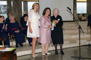 Mrs. Suzana Misic, HRH Crown Princess Katherine and one of the winners