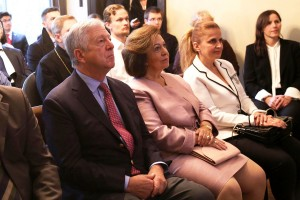 Their Royal Highnesses Crown Prince Alexander and Crown Princess Katherine at Toronto University visit
