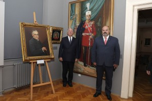 HRH Crown Prince Alexander and Mr. Cedomir Janjic at the Zrenjanin National museum