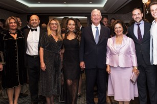 """Their Royal Highnesses Crown Prince Alexander and Crown Princess Katherine at the """"Step to the beat and help us defeat breast cancer"""" event in Toronto"""
