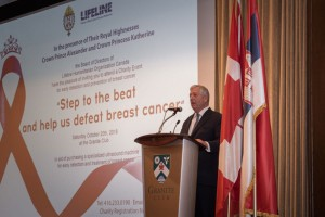 "HRH Crown Prince Alexander at the ""Step to the beat and help us defeat breast cancer"" event in Toronto"