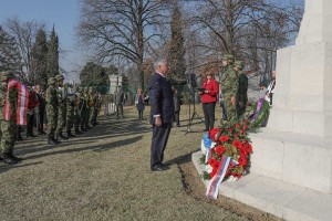 HRH Crown Prince Alexander at the Commonwealth War Cemetery ceremony