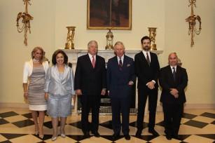 Mrs. Alison, HRH Crown Princess Katherine, HRH Crown Prince Alexander, HRH The Prince of Wales, HRH Hereditary Prince Peter and M. David