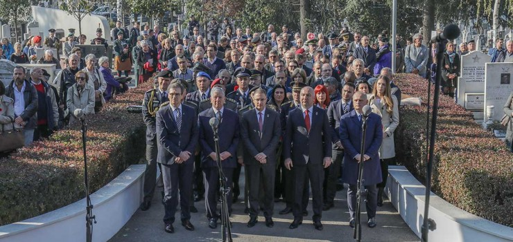 Državna komemorativna svečanost na Spomen kosturnici braniocima Beograda povodom Dana primirja