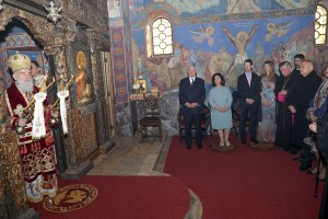 Slava liturgy at the church of St. Andrew the First-Called