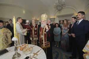 Great Rabi Isak Asiel, His Holliness Serbian Patriarch Irinej, HRH Crown Prince Alexander, Roman Catholic Archbishop of Belgrade Monseigneur Stanislav Hocevar and Islamic community of Serbia Mufti of Niš and of Bačka