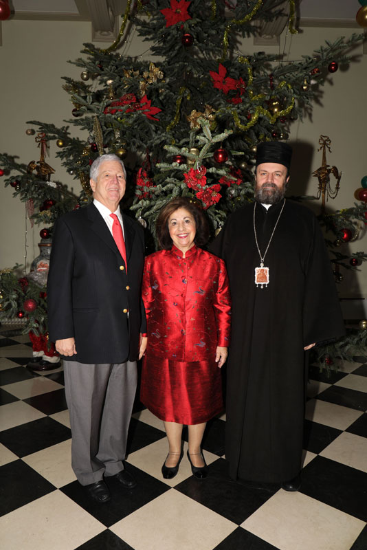 TRH Crown Prince Alexander and Crown Princess Katherine and the Vicar Bishop of Patriarch of Serbia – Bishop of Remesiana Stefan