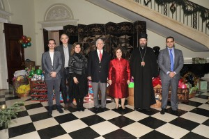 Family Zatezalo from Toronto diaspora, TRH Crown Prince Alexander and Crown Princess Katherine, Vicar Bishop of Patriarch of Serbia – Bishop of Remesiana Stefan and Mr. Sami Hanna, Second Secretary at Embassy of Palestine