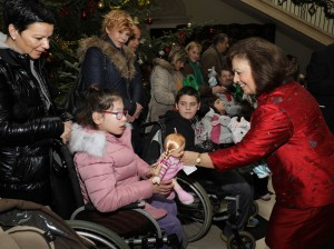 HRH Crown Princess Katherine at the Christmas receptions at the White Palace