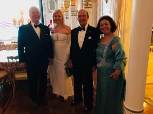 Nj.K.V. Prestolonaslednik Aleksandar i Princeza Katarina sa g-dinom Vilburom Rosom i njegovom suprugom g-đom Hilari Giri