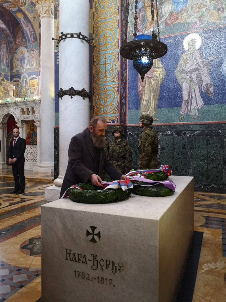 Mr. Predrag Markovic laid a wreath on the tomb of the Supreme Leader Karadjordje