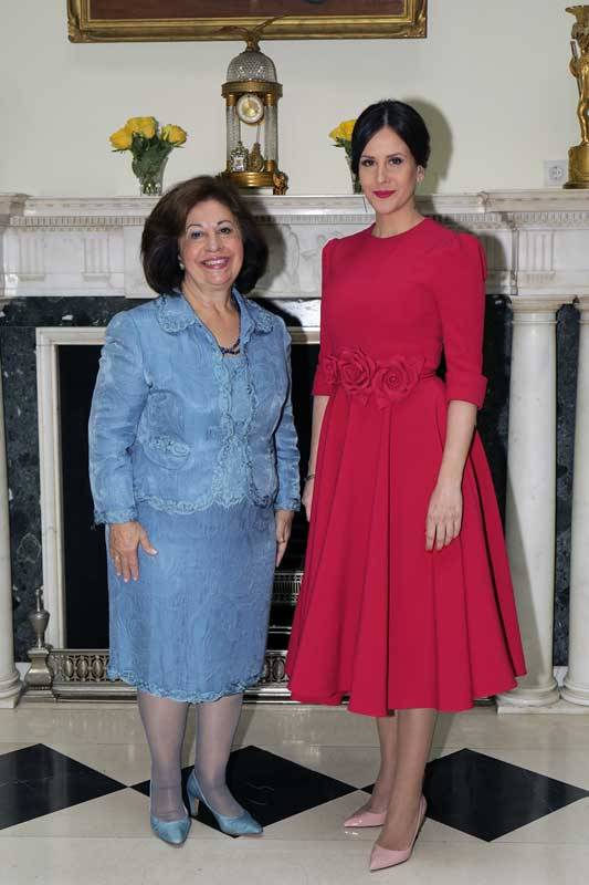 HRH Crown Princess Katherine and Mrs. Tamara Vucic, First lady