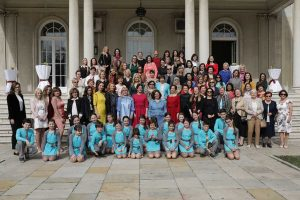 Ladies with the members of the Children's Cultural Center Belgrade Choir at the White Palace