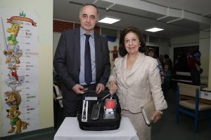 Professor Nenad Arsovic, director of the Clinic for Otorhinolaryngology and Maxillofacial Surgery of the Clinical Center of Serbia and HRH Crown Princess Katherine