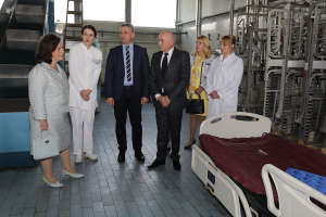 HRH Crown Princess Katherine at the General hospital in Cacak