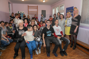 "HRH Crown Princess Katherine at the school ""Ivo Lola Ribar"" in Kraljevo"