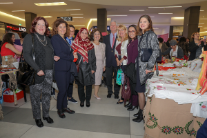 The Royal couple and diplomatic core repesentatives open the Easter Bazaar