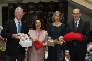Their Royal Highnesses Crown Prince Alexander and Crown Princess Katherine with the Ambassador of Italy HE Mr. Carlo Lo Cascio with his spouse